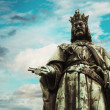 Charles IV statue - Stock Photo