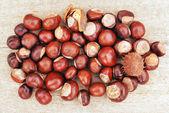 Chestnut pile — Stock Photo