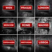 European capitals — Stock Photo
