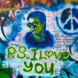 Lennon wall in Prague — Stock Photo