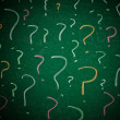 Stock Photo: Question marks