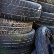 Stack of car tires — Stock Photo