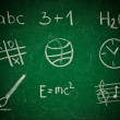 Icons on the chalkboard — Stock Photo #15621653