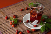 Dog rose tea — Stock Photo