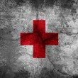 Red Cross flag - Stock Photo