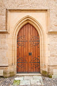 Kilise kapısına — Stok fotoğraf