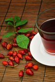Dog rose tea — Stock Photo
