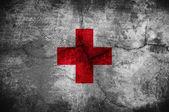 Flaga Czerwonego Krzyża — Zdjęcie stockowe