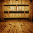 Wooden book shelf - Foto Stock