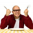 Man at the dinner table - Foto Stock