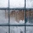 winter-fenster — Stockfoto