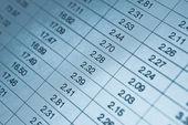 Numeri nella tabella — Foto Stock