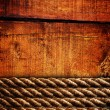 Royalty-Free Stock Photo: Wood texture and ropes
