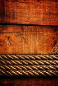 Wood texture and ropes — ストック写真