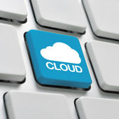 Cloud computing toetsenbord concept — Stockfoto