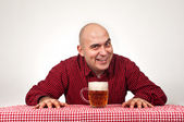 Beer drinker — Stock Photo
