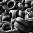 Old car tires - Stock Photo