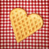 Serce kształcie galette cookie — Zdjęcie stockowe