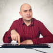 Man with computer keybaord — Stock Photo #18281807