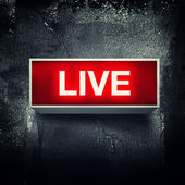 Live meddelande — Stockfoto