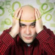 Mortgage headache concept - Stock Photo