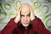 ипотечный концепция головная боль — Стоковое фото