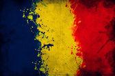 Romanya bayrağı. — Stok fotoğraf