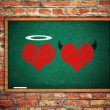 Angel and devil in love — Stock Photo