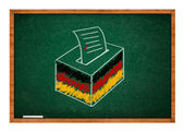 Election ballot in Germany — Stock Photo