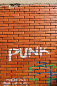 Punk grafitti — Stock Photo