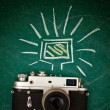Retro style camera — Stock Photo