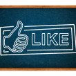 Stock Photo: Like button