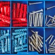 Jack screws in toolbox - Stock Photo