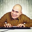 Man with computer keybaord — Stock Photo #19839079