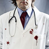 Killer doctor — Stock Photo