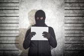 Arrested burglar — Stock Photo