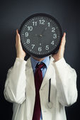 Doctor is working overtime — Stock Photo