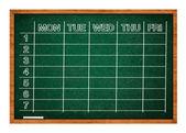 Calendário escolar — Foto Stock