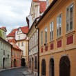 Prague streets, Lesser side - Stock Photo