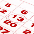 Royalty-Free Stock Photo: Thirteenth day in calendar detail