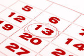 Thirteenth day in calendar detail — Stock Photo