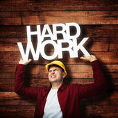 Construction worker hardworking — Stock Photo