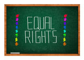 Equal rights — Foto Stock