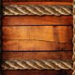 Wood texture and ropes - Foto Stock
