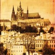 Prague castle, vintage editing - Stock Photo