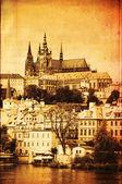 Prague castle, vintage editing — Stock Photo