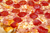 Pepperoni Pizza Close Up — Stock Photo