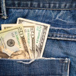 Dollars in pocket - Stock Photo