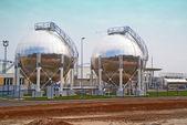 Serbatoi di stoccaggio olio — Foto Stock