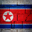 North Korea flag — Stock Photo